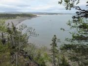 view at Parrsboro beach from hiking trail