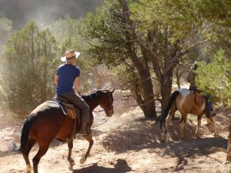 horse riders in Losee Canyon